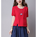 cheap Wedding Shoes-Women's Vintage T-shirt - Solid Colored