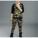 ieftine Top Băieți-Copii Băieți De Bază Concediu Geometric Manșon Lung Bumbac Set Îmbrăcăminte / Draguț