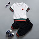 cheap Boys' Clothing Sets-Toddler Boys' Solid Colored Short Sleeve Clothing Set
