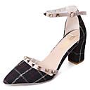 olcso Női magassarkú cipők-Női Cipő PU Nyár Kényelmes Magassarkúak Vaskosabb sarok Fekete / Mandula