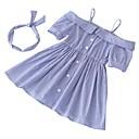 זול שמלות לבנות-שמלה כותנה פוליאסטר קיץ שרוולים קצרים יומי חגים פסים הילדה של חמוד פעיל פול