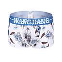 baratos Moda Íntima Exótica para Homens-Homens G-string Underwear Cueca Boxer Geométrica Cintura Média