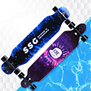 baratos Skate-41 Inch Longboards Skate Bordo A8EC-9 Multi-Côr Anti-Escorregar, Anti-Shake Black / Orange / Rosa Claro / Azul e preto