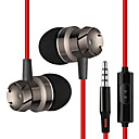 cheap Headsets & Headphones-In Ear Cable Headphones Hybrid Plastic Mobile Phone Earphone with Volume Control / Stereo Headset