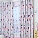 tanie Zasłony dziecięce-Zasłony zasłony Sypialnia Jendolity kolor Bawełna / Poliester Drukowane