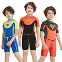 tanie Torby na ramię-Dla chłopców Skafander krótki 2mm Neopren SCR Kombinezony nurkowe Odporny na UV, Elastyczny, UPF50+ Krótki rękaw Zamek błyskawiczny na plecach Patchwork