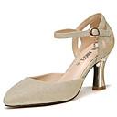 olcso Női magassarkú cipők-Női Cipő Csillogó flitter Nyár / Ősz Gadiátor / Magasított talpú Magassarkúak Vaskosabb sarok Arany / Ezüst / Party és Estélyi