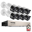 cheap Closure & Frontal-ZOSI® HD-TVI 8CH 1080P 2.0MP Security Cameras System 8*1080P 2000TVL Day Night Vision CCTV Home Security 2TB HDD