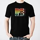 baratos Fantasias de carnaval-Camiseta com LED Iluminação / Design Moderno / Eletroluminescência Algodão puro Festa / Casual 2 Baterias AAA