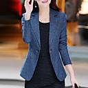 זול מגפי נשים-אחיד בסיסי סגנון רחוב עבודה מידות גדולות בלייזר - בגדי ריקוד נשים