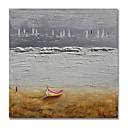 tanie Obrazy olejne-styledecor® nowoczesne ręcznie malowane abstrakcyjne łódź na szarym tle obraz olejny na płótnie do dekoracji ściennych do zawieszenia sztuki