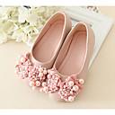 ieftine Pantofi Fetițe-Fete Pantofi PU Primăvară / Toamnă Confortabili / Pantofi Fata cu Flori Pantofi Flați pentru Alb / Roz