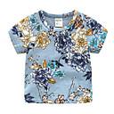 povoljno Majice za dječake-Dijete koje je tek prohodalo Dječaci Osnovni Dnevno / Praznik Cvjetni print Print Kratkih rukava Regularna Pamuk / Poliester Majica s kratkim rukavima Plava 100