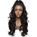 cheap One Pack Hair-Human Hair Unprocessed Human Hair Full Lace Wig Brazilian Hair Wavy Wig Middle Part Deep Parting Side Part 130% Density with Baby Hair Natural Hairline For Black Women 100% Hand Tied Bleached Knots