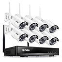 cheap Dial Locks-ZOSI® 8CH CCTV System Wireless 1080P HD NVR 8PCS 2.0MP IR Outdoor Waterproof P2P Wifi Security Camera System Surveillance Kit