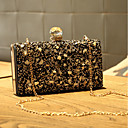 povoljno Clutch i večernje torbice-Žene Torbe Večernja torbica Kristalni detalji za Vjenčanje / Zabave Zlato / Crn / Pink