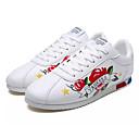 זול סניקרס לגברים-בגדי ריקוד גברים אור סוליות PU אביב / סתיו נעלי אתלטיקה הליכה לבן / שחור / אדום