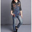 billige Tøjsæt til piger-Pige Tøjsæt Ensfarvet Prikker, Bomuld Forår Langærmet Blå