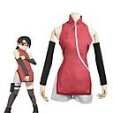 tanie Kostiumy anime-Zainspirowany przez Naruto Uchiha Sarada Anime Kostiumy cosplay Garnitury cosplay Inne Bez rękawów Pończochy / Więcej akcesoriów / Szorty Na Męskie / Damskie Kostiumy na Halloween