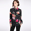 preiswerte Backformen-Damen Blumen - Street Schick Hemd, Hemdkragen / Frühling / Sommer