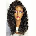 tanie Torby na ramię-Nieprzetworzone włosy naturalne Siateczka z przodu Peruka Włosy brazylijskie Curly Czarny Peruka Fryzura cieniowana 130% Gęstość włosów z Baby Hair Naturalna linia włosów Czarny Damskie Krótkie