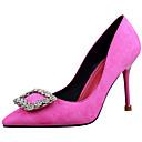 baratos Sapatos de Noiva-Mulheres Sapatos Pêlo Primavera / Outono Gladiador / Plataforma Básica Saltos Salto Agulha Dedo Apontado Roxo Claro / Vermelho / Rosa