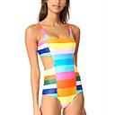 ieftine Brățări la Modă-Pentru femei Cu Bretele Albastru piscină Cheeky O Piesă Costume de Baie - Bloc Culoare / Curcubeu M L XL / Sexy