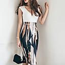 זול תוספות שיער אומברה-חצאית דפוס, גיאומטרי - סט בוהו בגדי ריקוד נשים