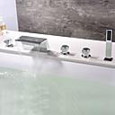 abordables Utensilios de cocina-Grifo de bañera - Moderno Cromo Bañera y ducha Válvula Cerámica