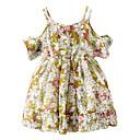 tanie Sukienki dla dziewczynek-Brzdąc Dla dziewczynek Podstawowy Codzienny Kwiaty Bez rękawów Poliester Sukienka Żółty 100
