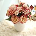 baratos Flor artificiali-Flores artificiais 8.0 Ramo Rústico / Casamento Rosas / Flores eternas Flor de Mesa