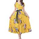 cheap Women's Sandals-Women's Sophisticated Boho Sheath Dress - Floral Print