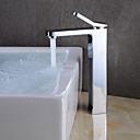 preiswerte Badarmaturen-Waschbecken Wasserhahn - Verbreitete Chrom Mittellage Einhand Ein Loch