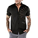 cheap Hiking Trousers & Shorts-Men's Basic / Punk & Gothic Shirt - Solid Colored Cut Out White L / Short Sleeve / Summer