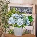 tanie Sztuczny kwiat-Sztuczne Kwiaty 1 Gałąź Rustykalny Róże Bukiety na stół