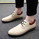 זול נעלי ספורט לגברים-בגדי ריקוד גברים PU קיץ נוחות נעלי אוקספורד שחור / בז' / אדום