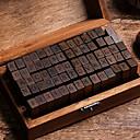 abordables Escritura-Madera / Bambú Marrón oscuro 1 / caja Bloques de Sellos 15*8.5*5cm