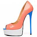 ieftine Pantofi Sport de Damă-Pentru femei Pantofi PU Primavara vara Balerini Basic Tocuri Toc Stilat Pantofi vârf deschis Portocaliu / Party & Seară / Party & Seară