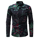 cheap TV Boxes-Men's Basic Shirt - Floral / Long Sleeve