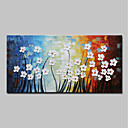 cheap Landscape Paintings-Oil Painting Hand Painted - Abstract / Floral / Botanical Modern Canvas