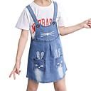 ieftine Costum Baie Fete-Copii Fete Activ Zilnic Geometric Imprimeu Fără manșon Sub Genunchi Bumbac / Poliester Rochie Albastru piscină 140