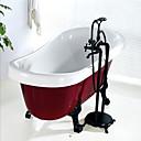abordables Utensilios de cocina-Grifo de bañera - Clásico Pintura Montado en el suelo Válvula Cerámica