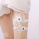 ieftine Jartiere de Nuntă-Piatră Preţioasă / Dantelă Stil Vintage Nunta Garter Cu Piatră Semiprețioasă / Găuri Jartiere Nuntă / Party & Seară
