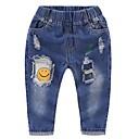 ieftine Pantaloni Fete & Leginși-Copii Unisex Geometric Blugi