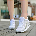cheap Women's Sneakers-Women's Shoes Tulle Spring / Fall Comfort Sneakers Wedge Heel White / Black / Gray
