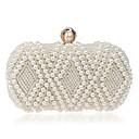 cheap Clutches & Evening Bags-Women's Bags Terylene Evening Bag Crystals / Pearls Beige