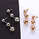 cheap Necklaces-Tassel Drop Earrings - Ball Simple, European, Fashion Gold / Silver For Causal Daily