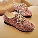 זול נעלי ילדות-בנות נעליים Paillette אביב נעליים לילדת הפרחים נעלי אוקספורד נצנצים ל שחור / כסף / ורוד