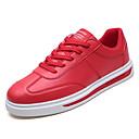 זול סניקרס לגברים-בגדי ריקוד גברים PU קיץ נוחות נעלי ספורט לבן / שחור / אדום