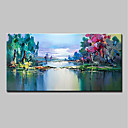 cheap Framed Oil Paintings-Mintura® Hand Painted Modern Abstract Landscape Oil Paintings On Canvas Wall Art Picture For Home Decoration Ready To Hang